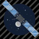 artificial, panel, satellite, solar icon