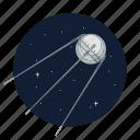 artificial, satellite, soviet union, sputnik icon