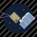 artificial, nano, satellite, signal icon