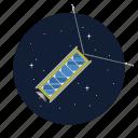 artificial, nano, satellite, science icon