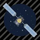 artificial, satellite, solar, station icon
