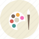 art, brush, draw, paint, painter, palette, tool icon