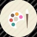 draw, art, tool, palette, paint, brush, painter icon