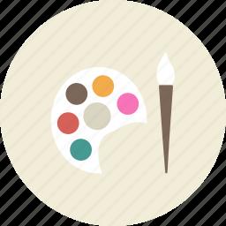 art, brush, draw, paint, painter, palette, tool icon