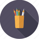art, artistix, color pencils, crayons, creative, mug, pencils icon