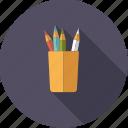 art, artistix, color pencils, crayons, mug, pencils, creative icon