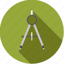 artistix, compass, stationery, tool, utensil icon