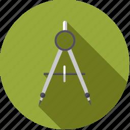 artistix, compass, stationery, tool, utensil icon