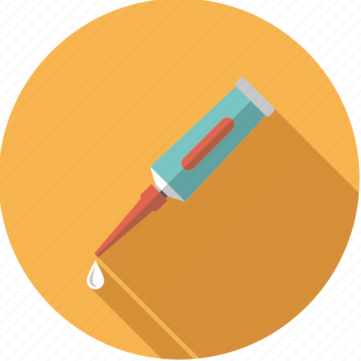 artistix, drop, glue, stationery, tube, utensil icon