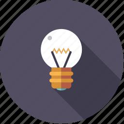 artistix, bulb, creativity, idea, light, lightbulb icon