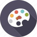 art, artistix, color, creative, painting, palette, utensil icon
