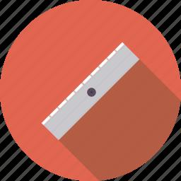 artistix, metal, ruler, stationery, tool, utensil icon