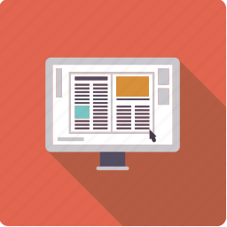 design, display, layout, monitor, page, screen icon