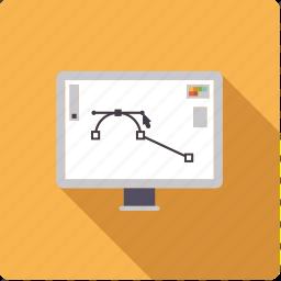 design, display, monitor, screen, vector graphics icon