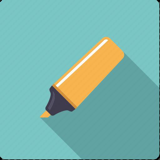 felt tip pen, highlighter, marker, neon, pen icon