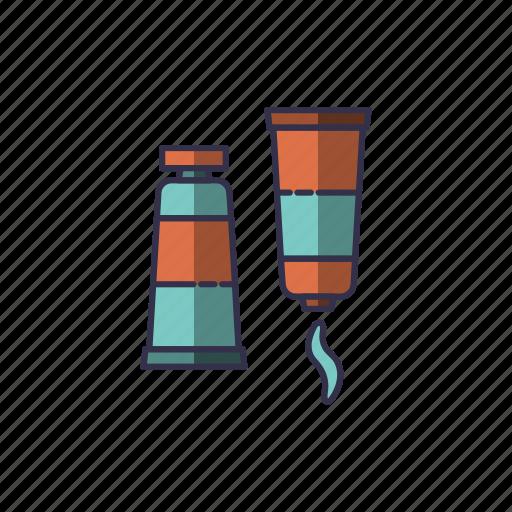bonding, bottle, glue, gluing, open, sticking, tube icon