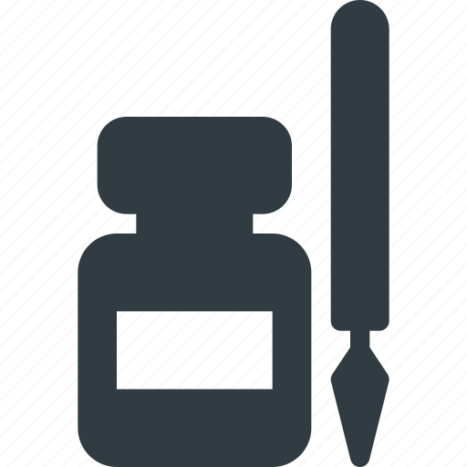 Art, ink, inkpot, pen icon - Download on Iconfinder