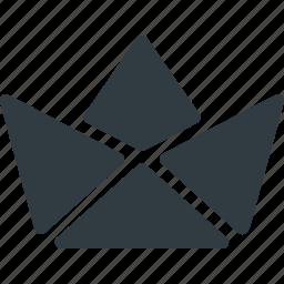 art, boat, craft, handcraft, origami, paper icon