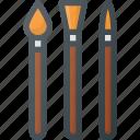 art, brushes, design, brush, paint icon