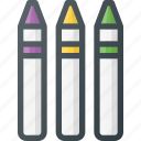 art, craft, crayons, design, pencil icon
