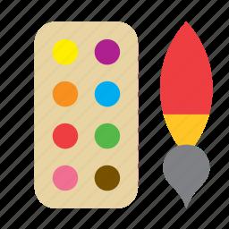art, arts, brush, paint, painting, palette icon