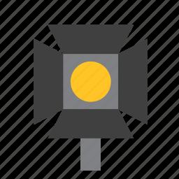 filmmaking, flashlight, light, lightbulb, lighting, spotlight, torch icon