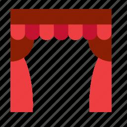 art, curtain, film-making, filmmaking, theater, theatre icon