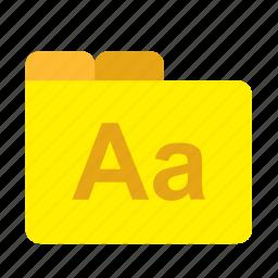 art, design, file, folder, graphic, typography icon