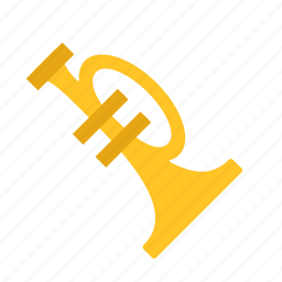 art, arts, instrument, music, musical, trumpet icon