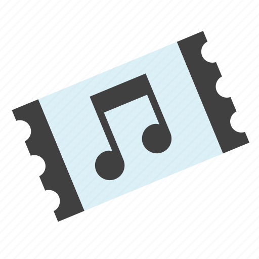 art, concert, festival, music, musical, note, ticket icon