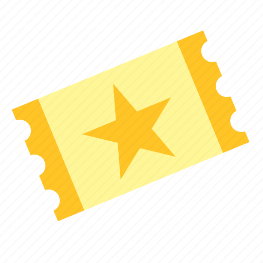 art, concert, event, festival, star, ticket icon