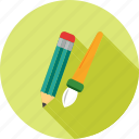 art, brush, drawing, paint, paintbrush, palette, pencil icon
