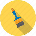 artist, brush, brushes, decorating, large, paint, white icon