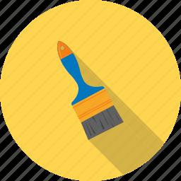 artist, brush, brushes, decorating, large, paint, white icon