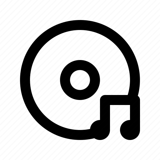 audio, disc, media, multimedia, music, song, sound icon