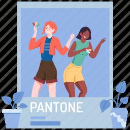 pantone, palette, paint, photo, image