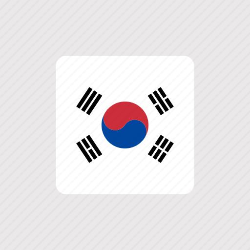 asia, country, flag, flags, korea, nation, national icon