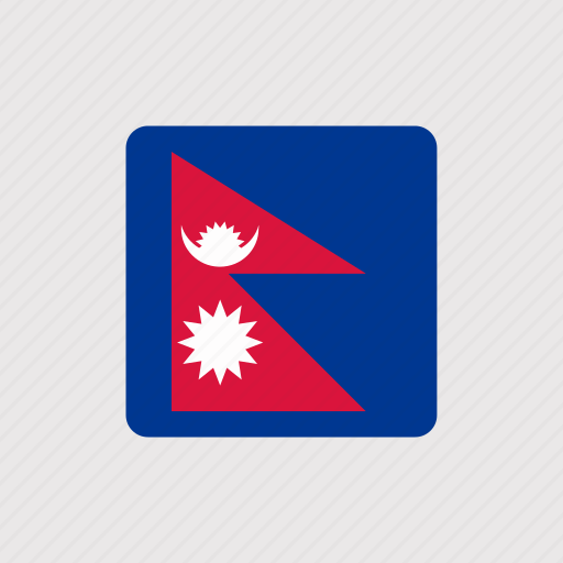 asia, country, flag, flags, nation, national, nepal icon