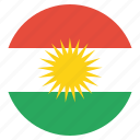 flag, kurd, kurdish, kurdistan, region icon