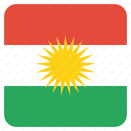 country, european, flag, kurdish, kurdistan, national, region icon
