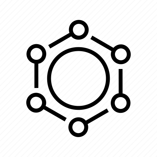 aspects, connections, nodes icon