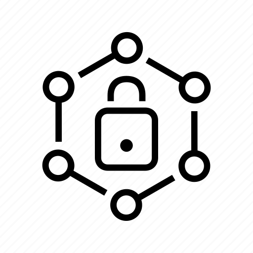 aspects, connections, lock, nodes, protect, safety icon