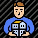 asset, estate, ownership, real icon