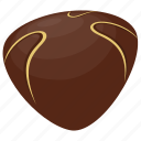 chocolate candy, chocolate praline, chocolate truffle, confectionery, sweet food icon