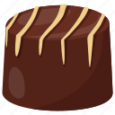 brownie, buttercream candy, chocolate candy, chocolate toffee, sweet treat icon