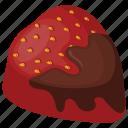 chocolate truffle, dessert, red chocolate, strawberry chocolate, sweet treats icon