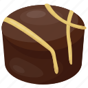 assorted chocolate, chocolate brownie, chocolate pastry, confectionery, dessert icon