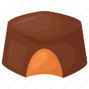 candy sweets, caramel chocolate, chocolate bite, confectionery, sweet food icon