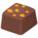 chocolate bar, dark chocolate, dessert, nut chocolate, sweet food icon