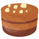 brownie, caramel chocolate, confectionery, dessert, peanut-butter chocolate icon